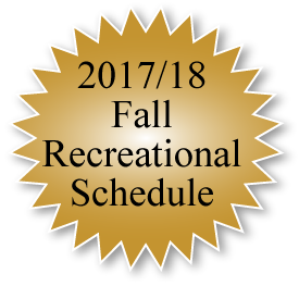 2017/18 Fall Recreational Schedule