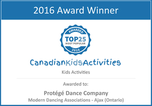 Canadian Kids Activities 2016 Award Winner